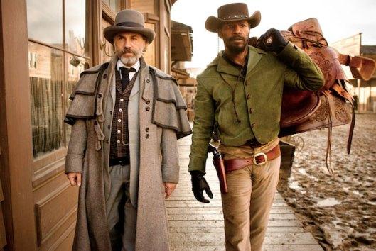 django-unchained jamie fox and christof waltz